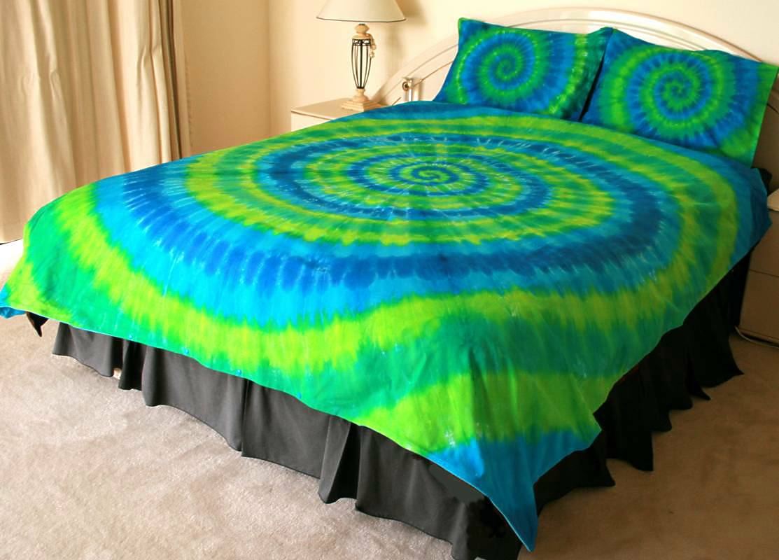 dyed bed sheets